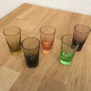 shotsglas snapseglas farvet glas