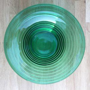 Holmegaard Broksø græsgrøn glasskål - Designet af Jacob E Bang