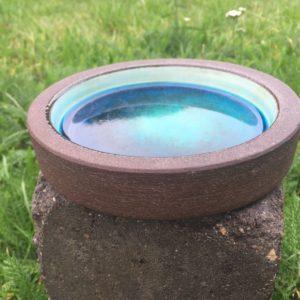 Fad fra Knabstrup, i blå/turkis farver