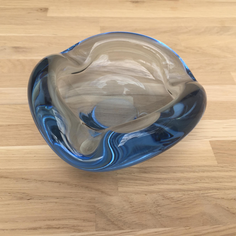 Holmegaard Aqua glas skål - Design af Per Lutken nr. 230557 - eLoppen.dk