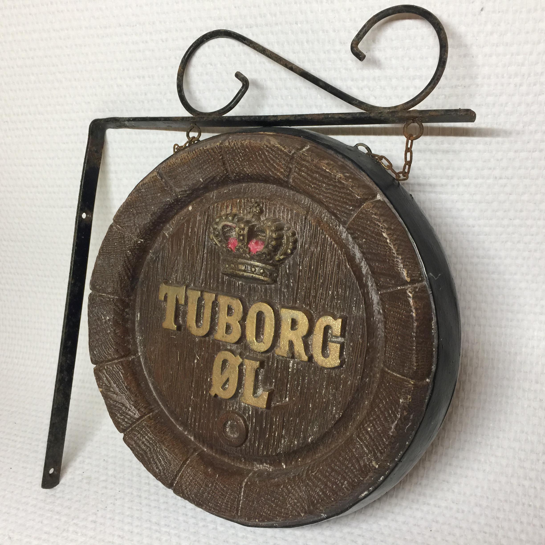 Foretrukne Tuborg skilt til ophæng på væg - Intakt med perfekt patina  LV94